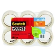 Scotch Greener Moving And Storage Tape - 1.88 in. x 54.6 Yd. - Clear, Pack 6