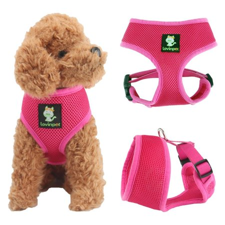 LovinPet Soft Mesh Dog Harness No Pull Comfort Padded Vest for Small