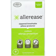 AllerEase Cotton Allergy Protection Pillow Protector, 2 Pack