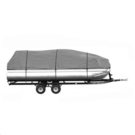 DELUXE- Four Seasons Brand PREMIUM 20 - 24 FOOT PONTOON Boat Cover GRAY (Camo Boot Covers)