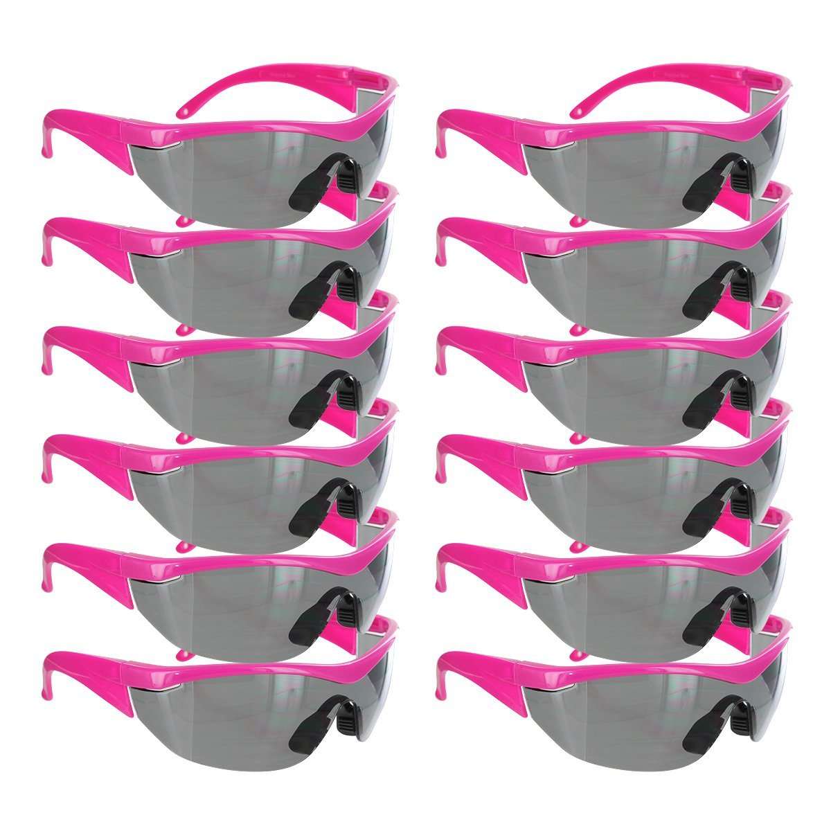 Safety Girl Navigator Safety Glasses Pink Frame - 12 Pack (Gray) By SafetyGirl Ship from US
