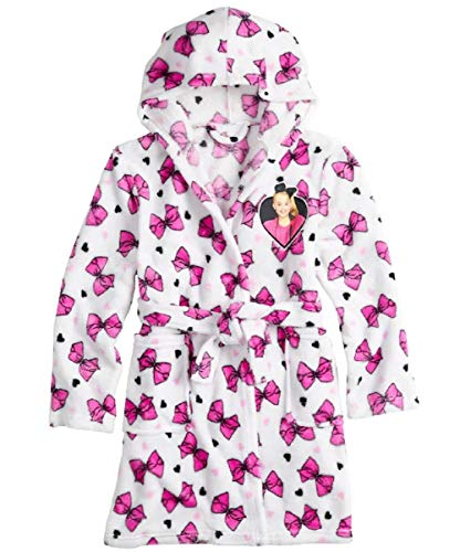 JoJo Siwa Kids Robe for Girls Hooded Soft Plush Fleece Bath Robe (10)