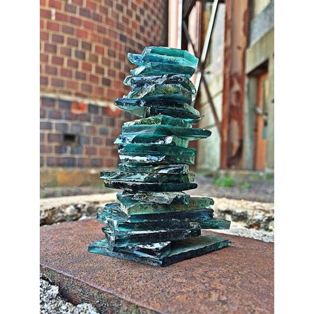 Laminated Poster Broken Stacked Zen Balance Glass Poster Print 11 x -