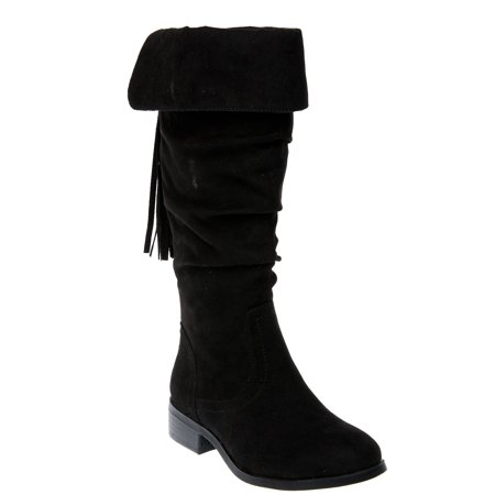 Wonder Nation Tall Slouch Boots with Tassel (Little Girls & Big