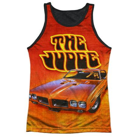 Pontiac GM Automobiles Orange GTO The Judge Adult Black Back Tank Top Shirt