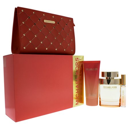 61742cc3469b Wonderlust by Michael Kors for Women - 4 Piece Gift Set with 3.4oz EDP Spray