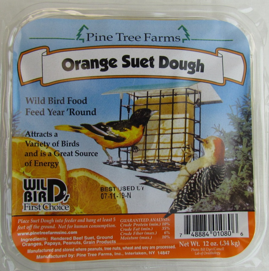Orange Suet Dough Cake Bird Food