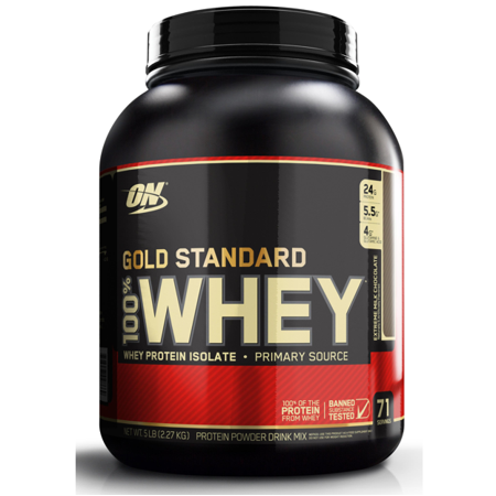 Optimum Nutrition Gold Standard 100% Whey Protein Powder, Extreme Milk Chocolate, 24g Protein, 5