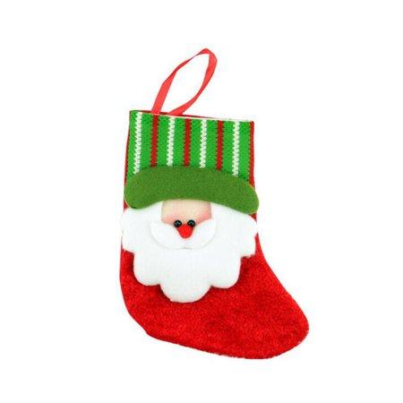 1pcs Christmas Mini Christmas Stockings Socks Decorations Socks Stocking Bag ()