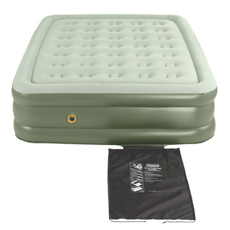 Coleman Double-High SupportRest Air Mattress for Indoor or Outdoor (Best Air Mattress Inflator)