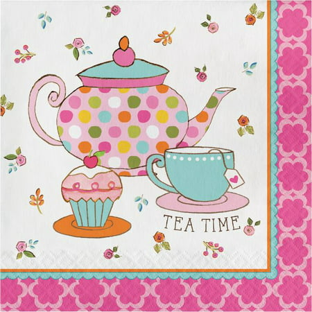 Party Creations Tea Time Lunch Napkins, 16 Ct ()