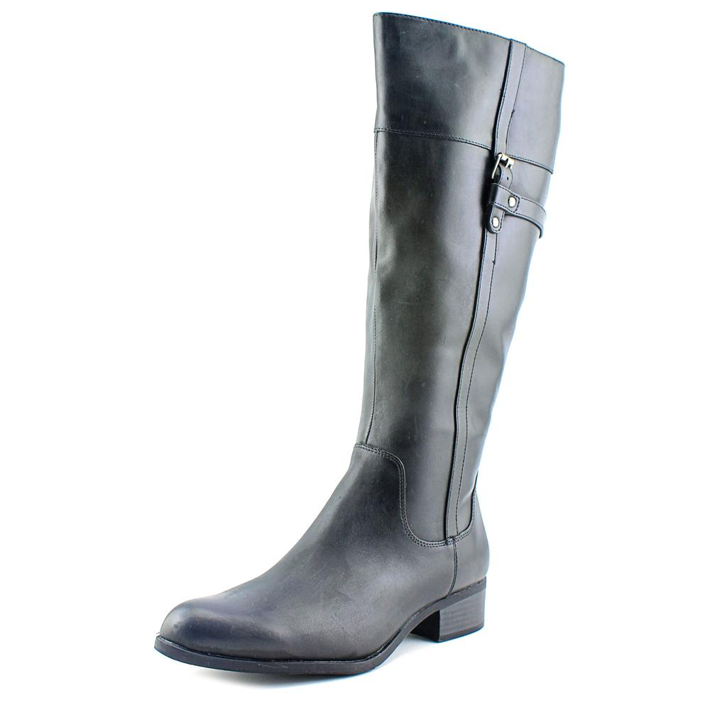 Easy Spirit Domina Wide Calf Women W Round Toe Leather Knee High Boot by Easy Spirit