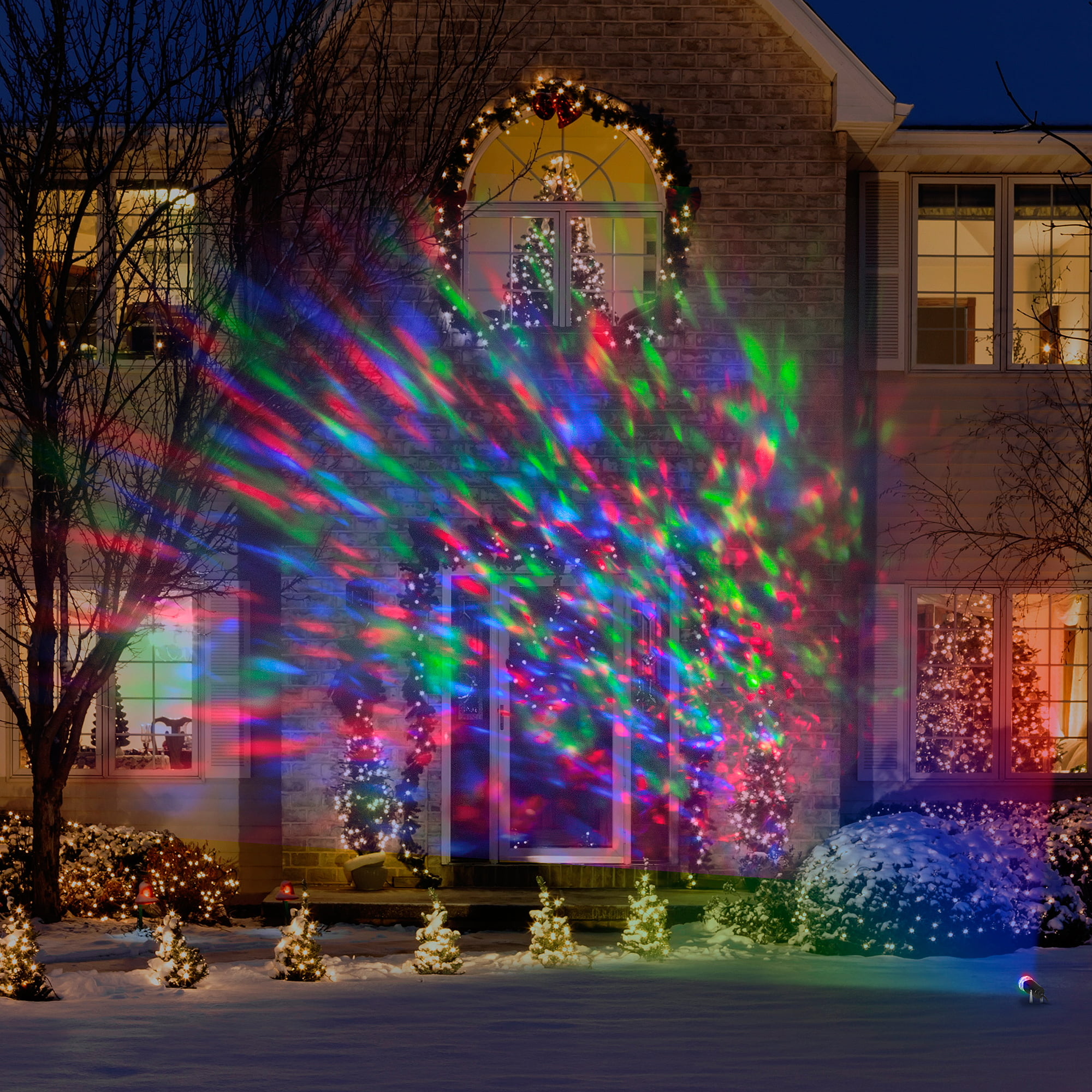 lightshow kaleidoscope multi colored christmas lights walmartcom