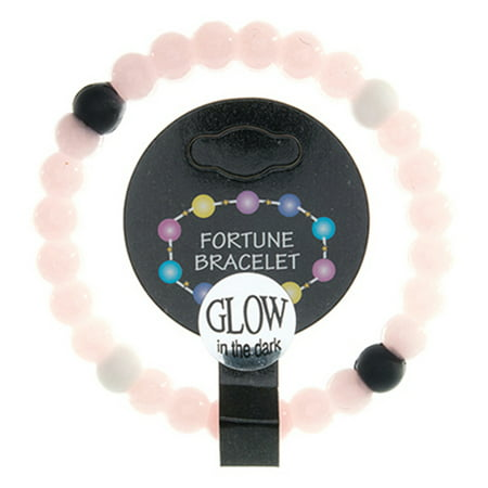 Pink Glow Bracelets (Frogsac  Glow in The Dark Silicone Fortune Bracelet with Colored)