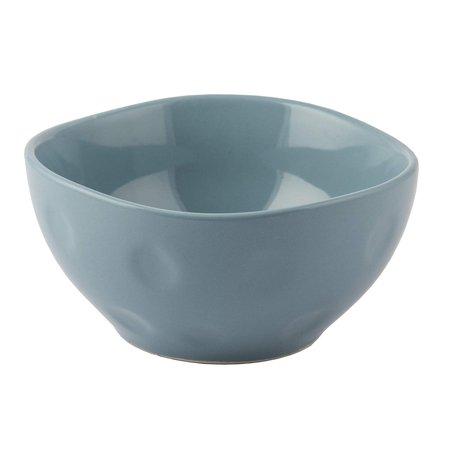 Melange Stoneware 6-Piece Bowl Set   Irregular Shape Collection   Service for 6  Microwave, Dishwasher & Oven Safe   Bowl Set, Aqua (6 Each) ()