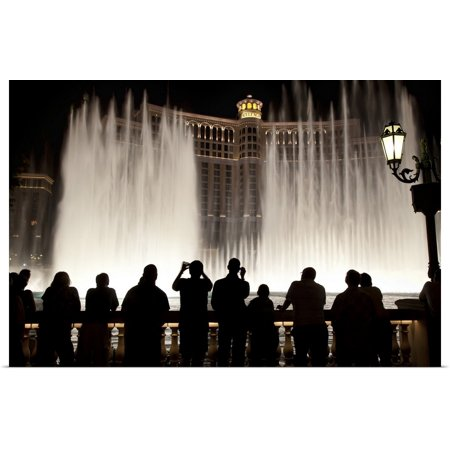 Great BIG Canvas | Rolled Scott Stulberg Poster Print entitled The water fountain at the Bellagio Hotel in Las Vegas, Nevada