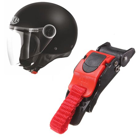 Motorcycle Helmet Speed Clip Chin Strap Buckle Quick Release QR Plastic Red 3/4""