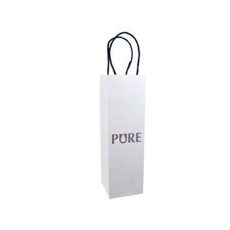 Wine Bottle Gift Bag White With PURE Pattern For 500ml Or 750ml 1Pcs - image 1 of 1