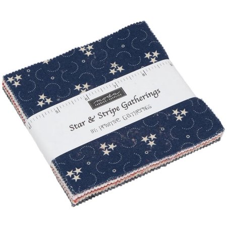 Star & Stripe Gatherings Moda Charm Pack by Primitive Gatherings; 42 - 5