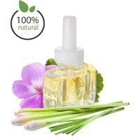 (3 Pack) 100% Natural Geranium Lemongrass Plug in Refill - Fits  Air Wick and more