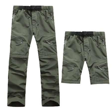 06f77d07848 Men Quick Dry Outdoor Pants Removable Hiking Camping Pants Male Summer  Breathable Hunting Climbing Pants S M