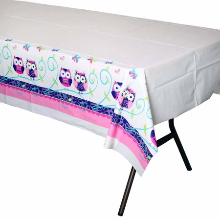 Owl Pal Birthday Table Cover - Owl 1st Birthday