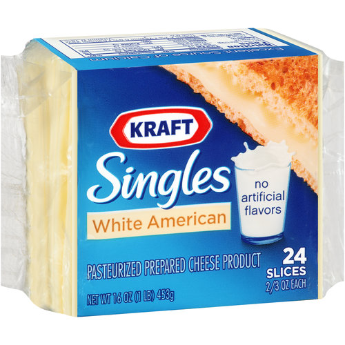 Kraft Singles White American Cheese Slices, 24 ct