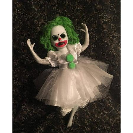 Green Hair Ballerina Clown Circus Sideshow Creepy Horror Doll by Bastet2329 Christie Creepydolls](Creepy Clown Dolls)