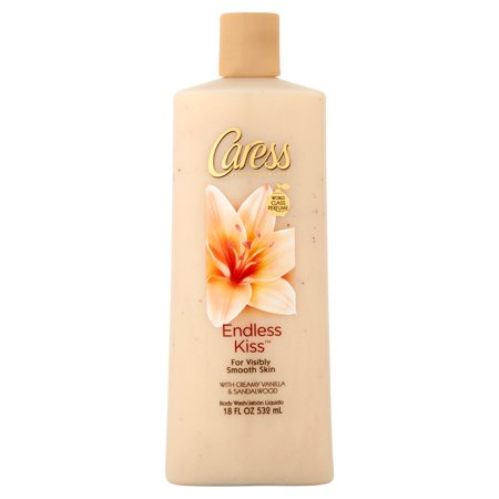 Caress Endless Kiss Creamy Vanilla & Sandalwood Body Wash, 18 oz