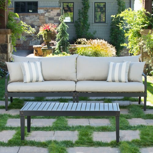 RST Brands  Astoria Sofa and Coffee Table  Outdoor Furniture  Astoria  Furniture  Outdoor Sofas  ;