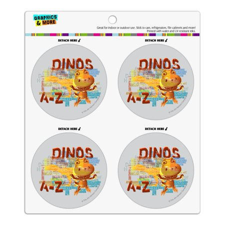 Dinosaurs from A to Z Word Art Dinosaur Train Refrigerator Fridge Locker Vinyl Circle Magnet Set ()