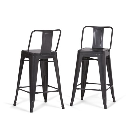 Fantastic Simpli Home Rayne 24 Inch Metal Counter Height Stool Set Of 2 Forskolin Free Trial Chair Design Images Forskolin Free Trialorg