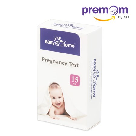 Easy@Home 15 Pregnancy (HCG) Urine Test Strips, 15 HCG