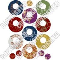 Nunn Design Transfer Sheet Floral Circles For Scrapbook - Fits Patera