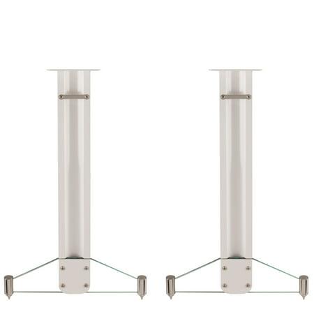 Q Acoustics Concept 20 Speaker Stands  Pair  Gloss White