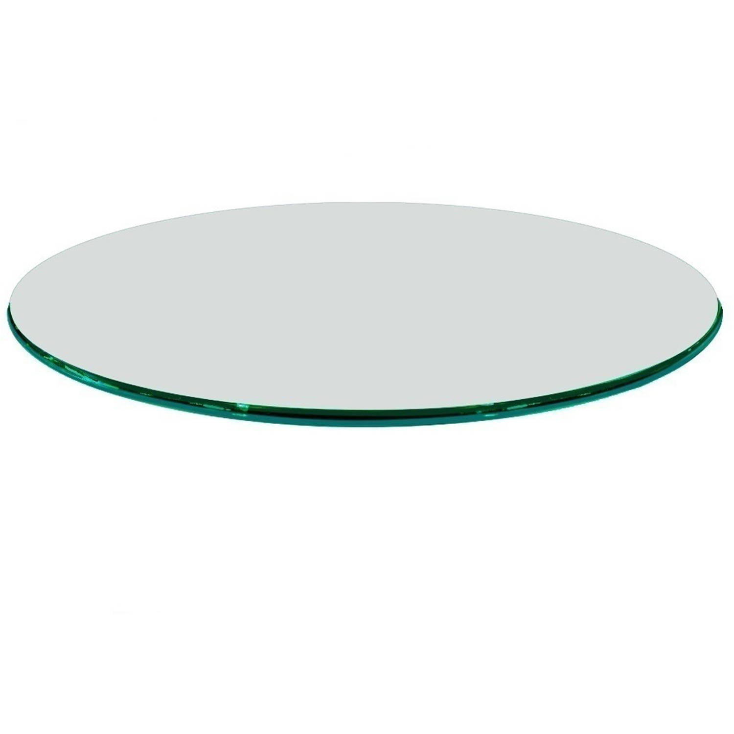 Glass table top 40 round 1 4 thick flat polish tempered for 13 inch round glass table top