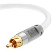 Mediabridge ULTRA Series Subwoofer Cable (4 Feet) - Dual Shielded with Gold Plated RCA to RCA Connectors - White - (Part# CJ04-6WR-G1 )