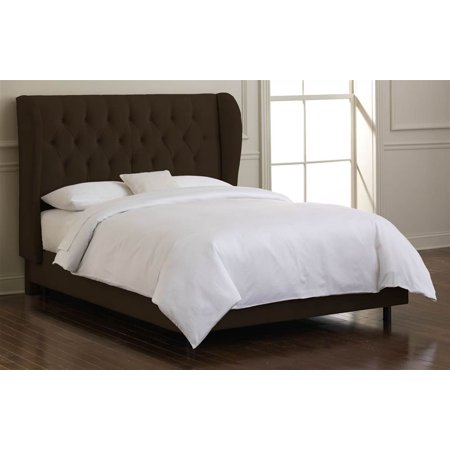 Skyline Plush Tufted Bed Foam Padding Chocolate Full