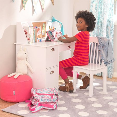 Kidkraft Kids Writing Desk And Chair In White Walmart Canada