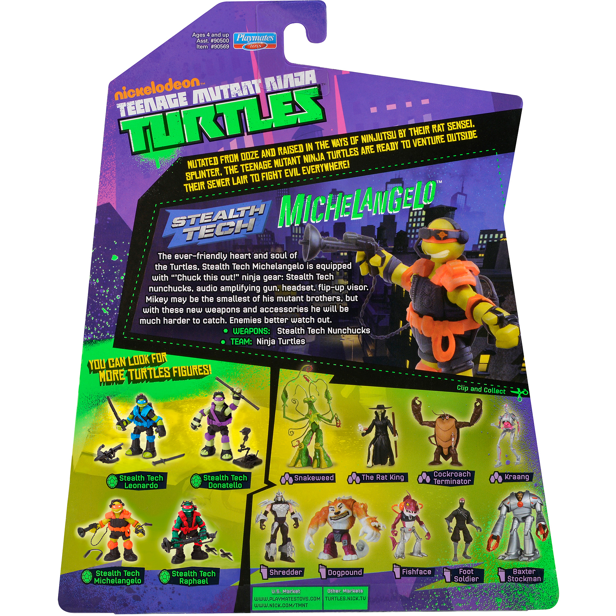 Teenage Mutant Ninja Turtles Stealth Tech Michelangelo Action Figure