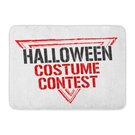 GODPOK Dirty Aged Halloween Costume Contest Grunge Rubber Stamp on White Autumn Emblem Rug Doormat Bath Mat 23.6x15.7 inch - Halloween Door Contest Ideas
