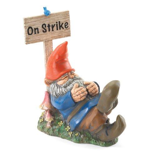 Zingz & Thingz Garden Gnome on Strike Statue by Koolekoo