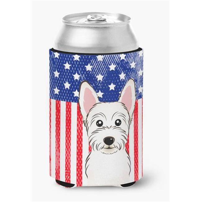 Carolines Treasures BB2156CC American Flag & Westie Can or Bottle Hugger - image 1 of 1