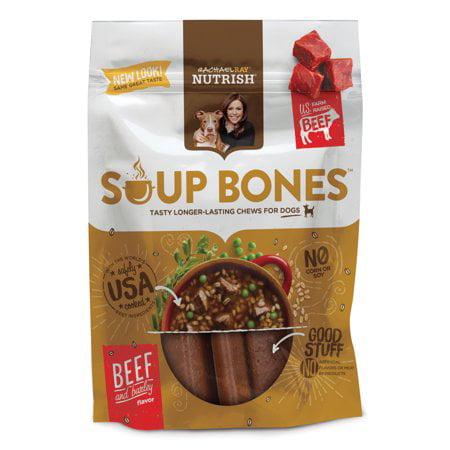 Rachael Ray Nutrish Soup Bones Dog Treats, Beef & Barley Flavor, 6.3oz 2 Pack