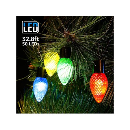 huge selection of 379cb cf599 TORCHSTAR 32.8ft 50 Bulbs LED Xmas String Lights, Colored Decorative  Lighting for Holiday Celebration