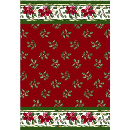 Carnation Home Fashions Christmas Floral Holiday Print