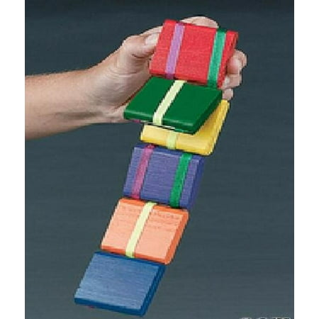 Old Wooden Toys - Jacob's Ladder-old Fashion Colorful Wooden Toy -2 Pack, Toy consists of blocks of wood held together by ribbons. By NINGBO