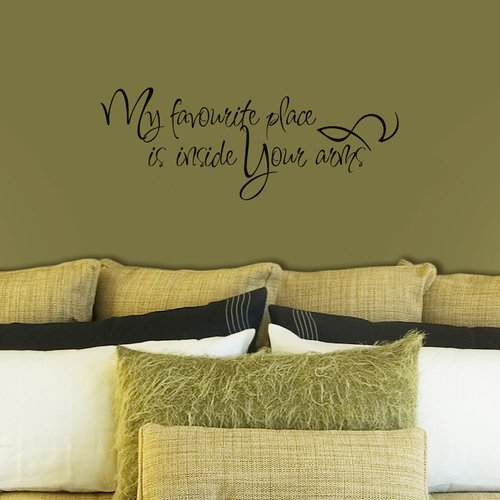 Fireside Home My Favourite Place is Inside Your Arms Wall Decal