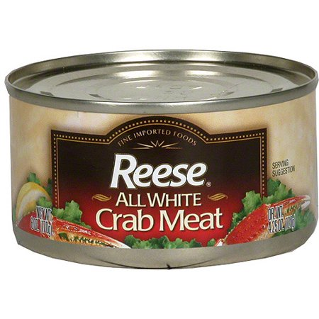Reese All White Crab Meat, 4.25 oz (Pack of 12) Frozen Crab Meat