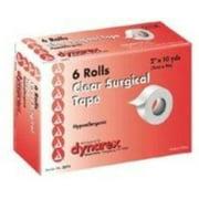 "Dynarex Transparent Surgical Tape 2""X10YD 6 Rolls"